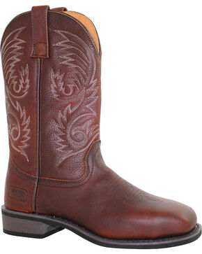 Ad Tec Men's Western Boots, Brown, hi-res