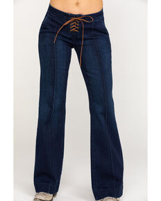 Idyllwind Women's Fit n' Tied Bootcut Jeans, Blue, hi-res
