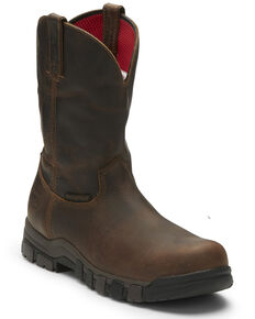 Justin Men's Basque Waterproof Western Work Boots - Composite Toe, Brown, hi-res