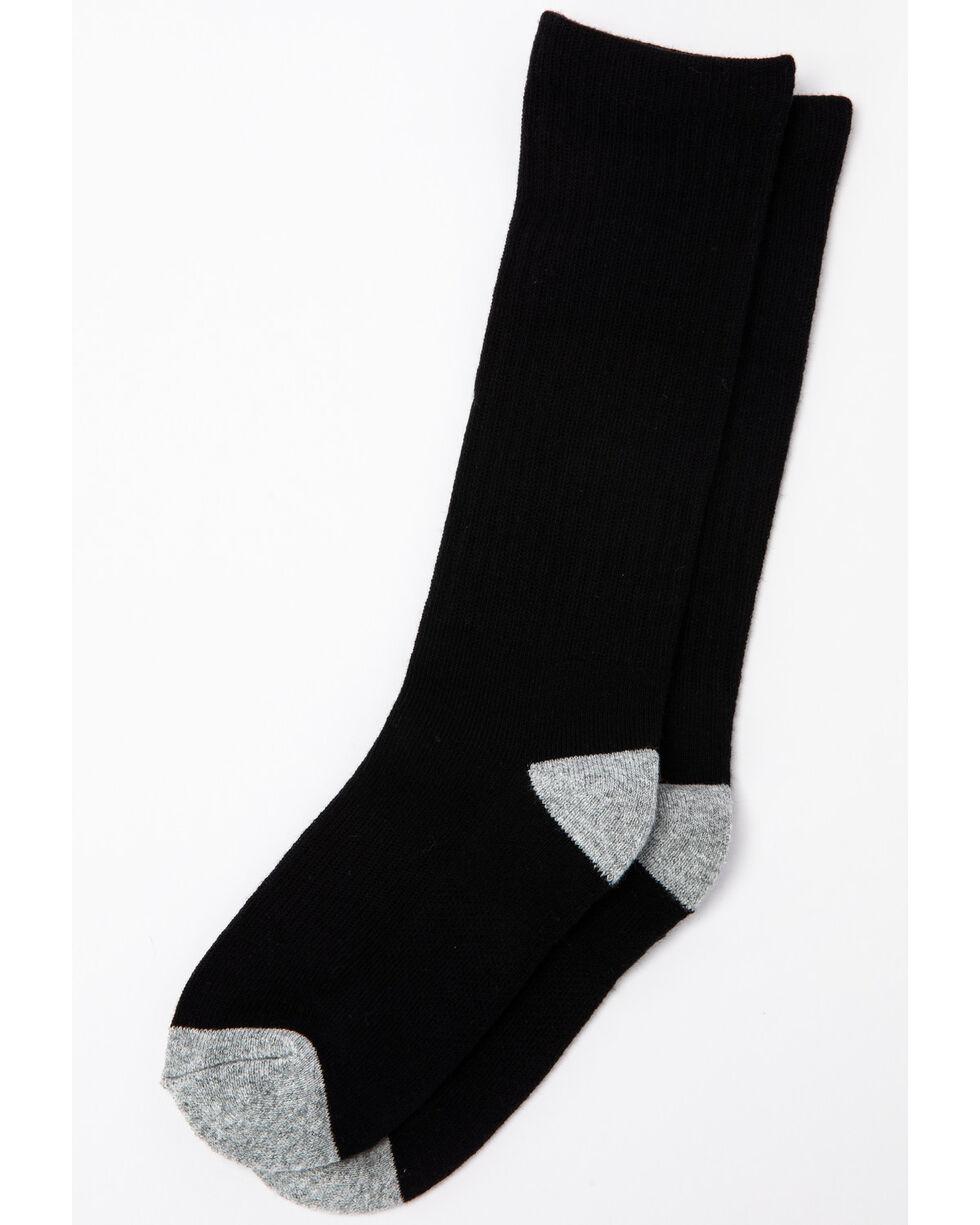 Cody James Boys' Solid 3-Pack Boot Socks, Black, hi-res