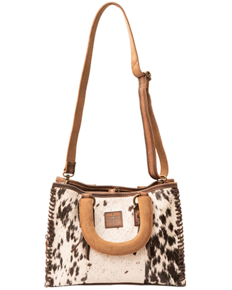 STS Ranchwear Women's Cowhide Chaps Satchel Bag, Brown, hi-res
