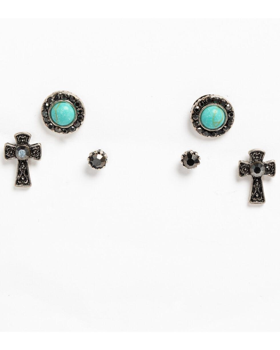 Shyanne Women's Sedona Spice Earring Set, Silver, hi-res
