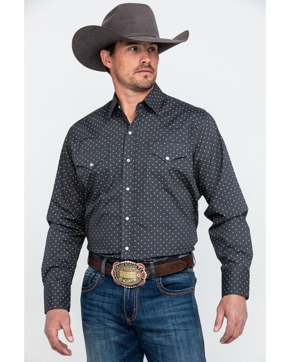 Ely Cattleman Assorted Men's Geo Print Long Sleeve Western Shirt , Multi, hi-res