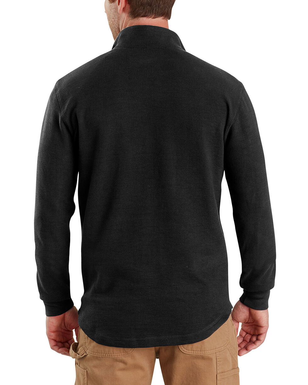 Carhartt Men's Tilden Long-Sleeve Half-Zip Pullover , Black, hi-res