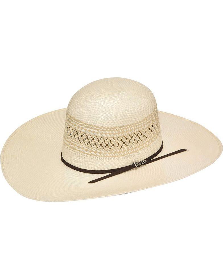 Twister 10X Shantung Open Crown Straw Cowboy Hat, Natural, hi-res