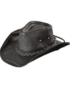 f4be5ed8f6c Bullhide Men s Black Melbourne Leather Hat