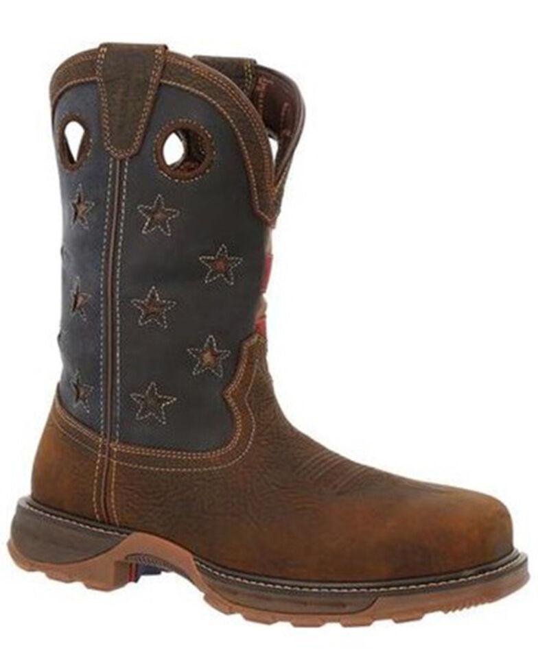 Durango Men's Maverick Waterproof Western Work Boots - Composite Toe, Brown, hi-res