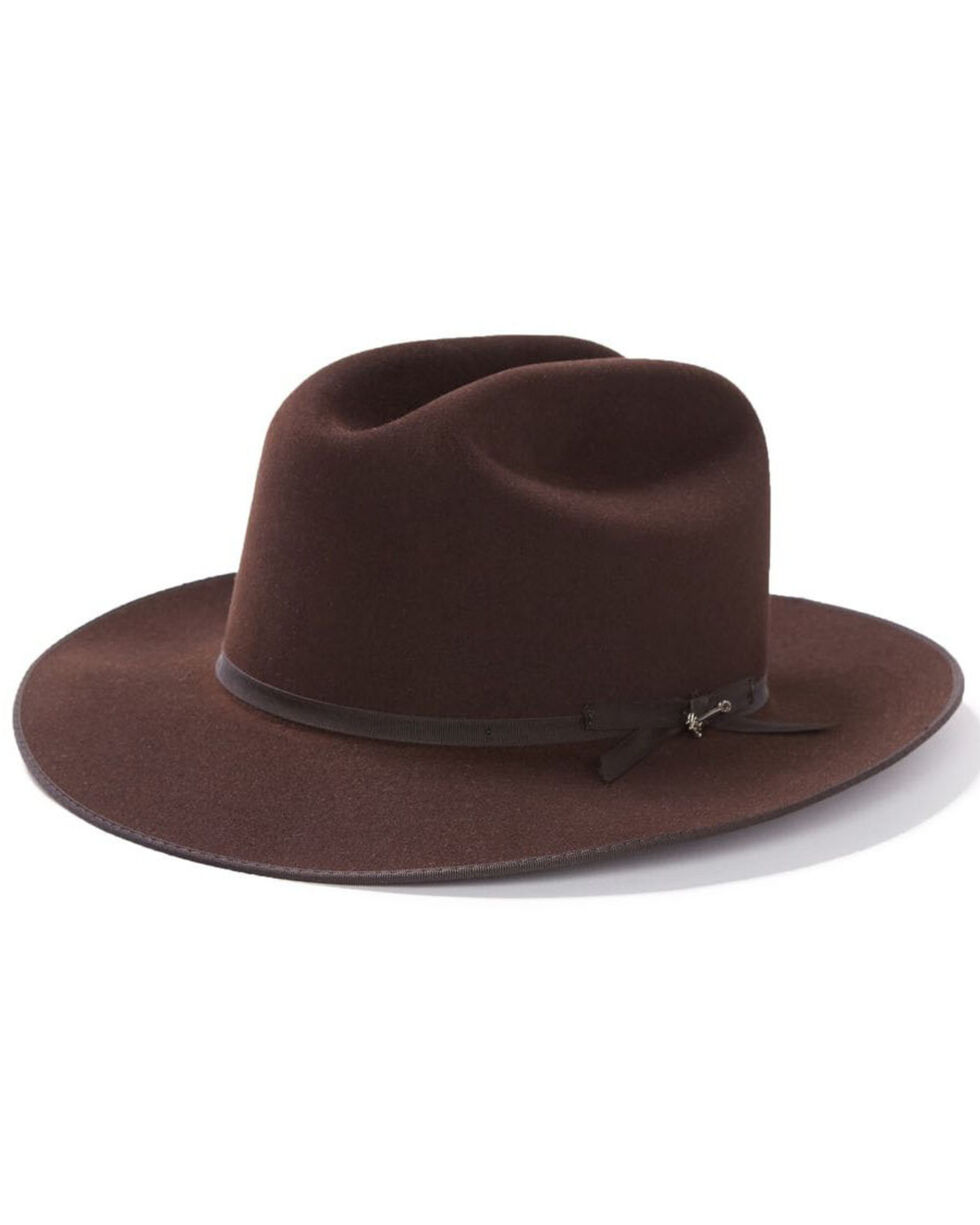 Stetson Open Road 6X Fur Felt Hat, Chocolate, hi-res