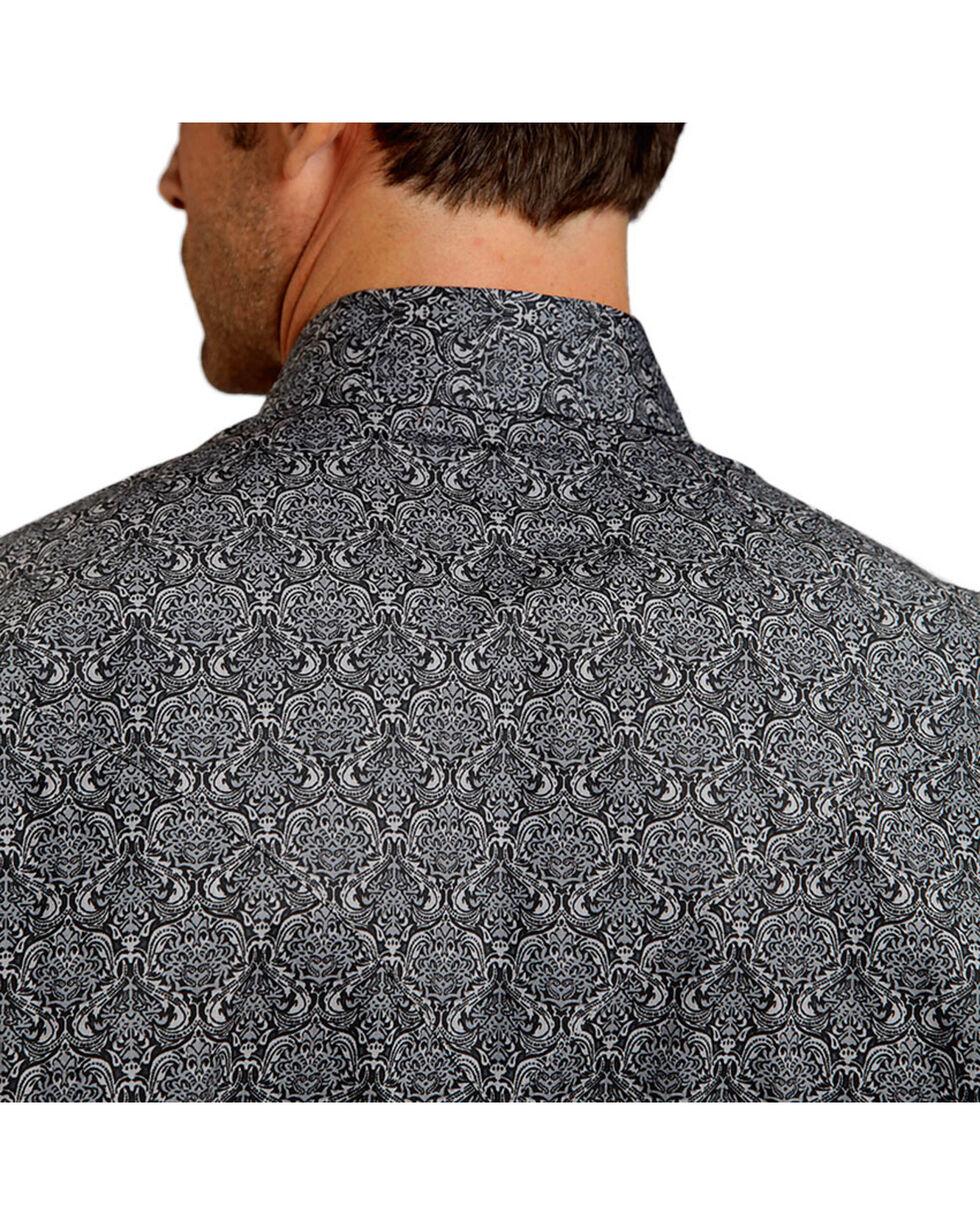 Stetson Men's Ornate Patterned Long Sleeve Shirt, Grey, hi-res