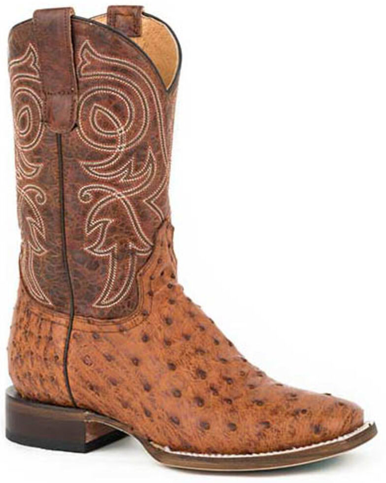 Roper Women's Burnished Cognac Western Boots - Round Toe, Brown, hi-res