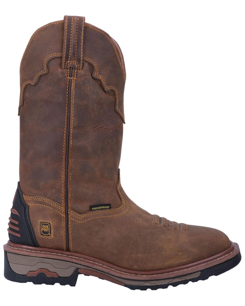 Dan Post Men's Blayde Waterproof Pull On Work Boots, Saddle Tan, hi-res