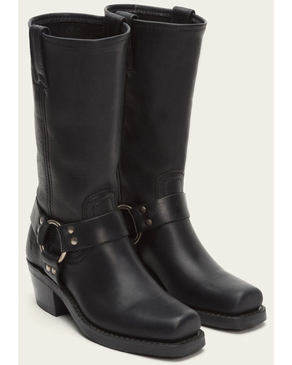 Frye Women's Harness 12R Boots - Square Toe , Black, hi-res