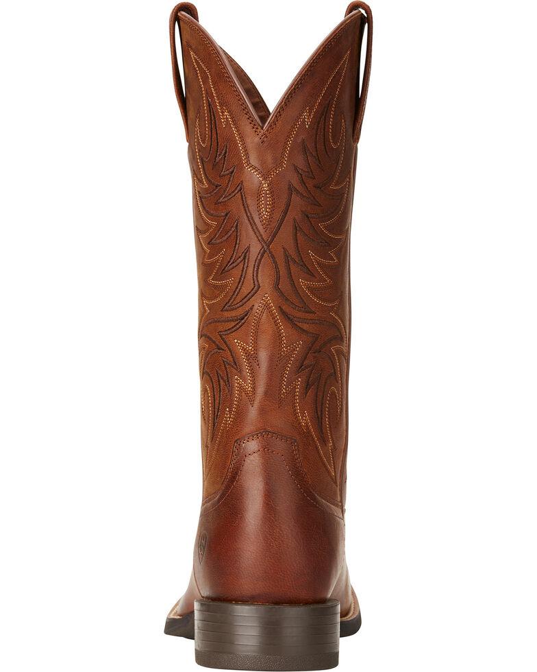 Ariat Men's Sport Horseman Brown Cowboy Boots - Round Toe, Brown, hi-res