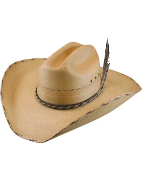 Larry Mahan Men's 30X Logan Palm Leaf Cowboy Hat , Rust Copper, hi-res