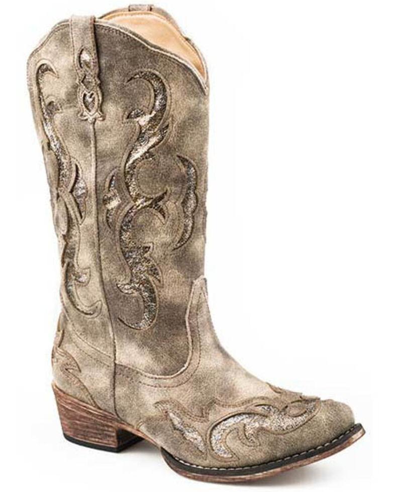 Roper Women's Riley Western Boots - Snip Toe, Tan, hi-res