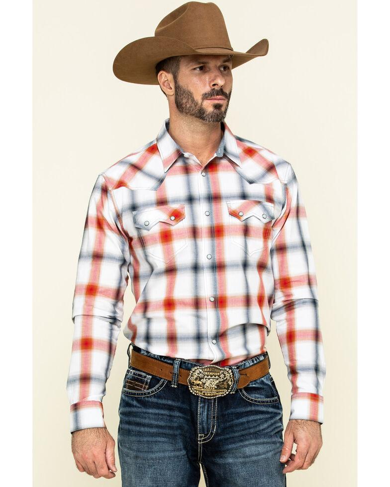 Cody James Men's Prairie Large Plaid Long Sleeve Western Shirt  , White, hi-res