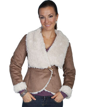 Scully Faux Fur Wrap Jacket, Hazelnut, hi-res