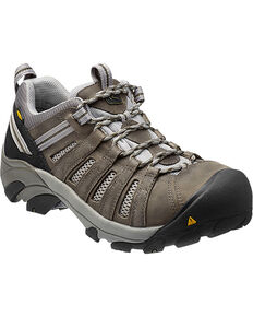 Keen Men's Flint Low Safety Shoes, Brown, hi-res