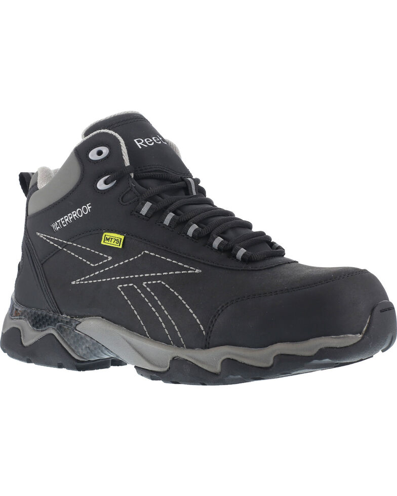 Reebok Women's Beamer Waterproof Athletic Met Guard Hiker Boots - Composite Toe , Black, hi-res