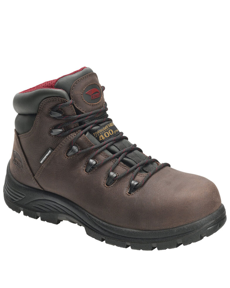 Avenger Men's Framer Waterproof Work Boots - Composite Toe, Brown, hi-res