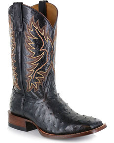 Cody James® Men's Full Quill Ostrich Exotic Boots, Black, hi-res