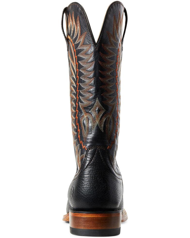 Ariat Men's Elite Felt Western Boots - Wide Square Toe, Black, hi-res