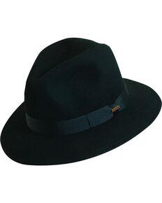 Scala Men's Black Wool Felt Safari Hat, Black, hi-res