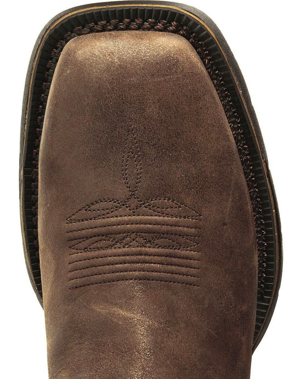 Rocky Men's Long Range Steel Toe Western Boots, Coffee, hi-res