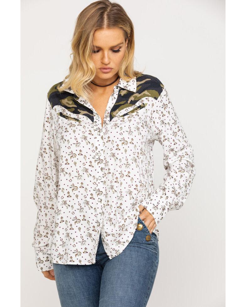 Ariat Women's Buckaroo Babe Long Sleeve Shirt, Multi, hi-res