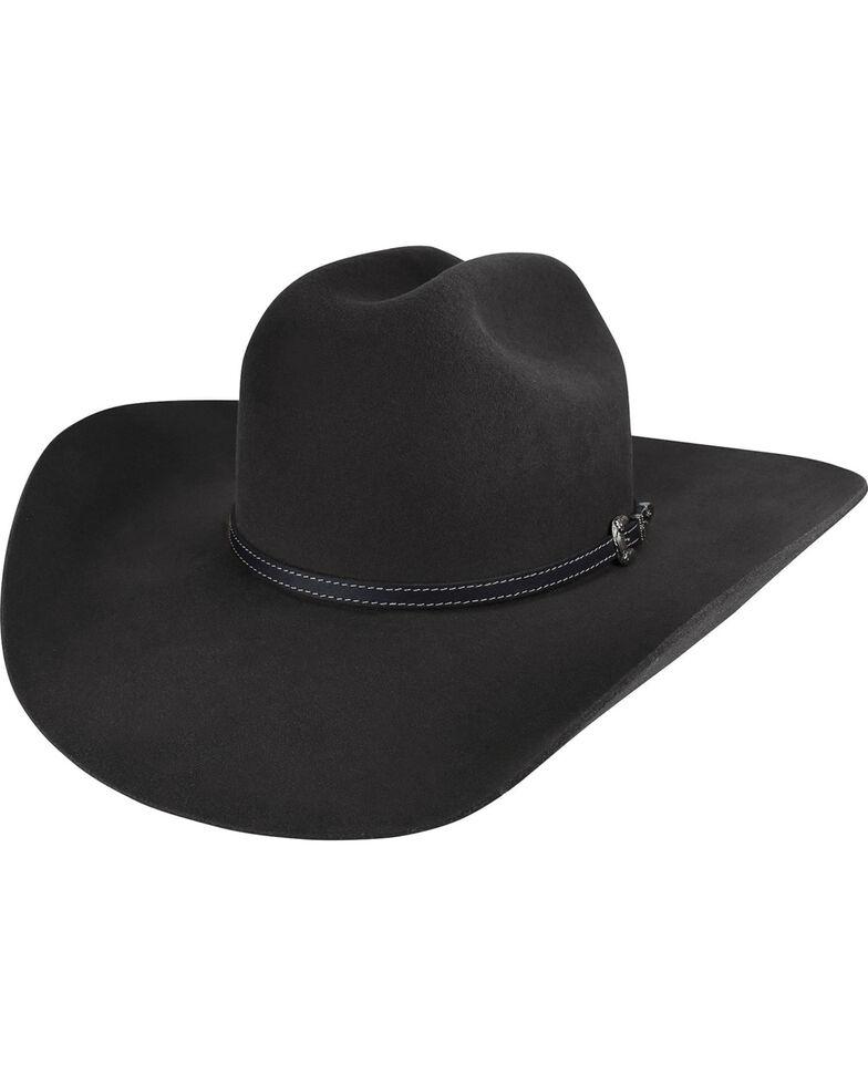 Bailey Men's Black Traveller 2X Wool Felt Cowboy Hat , Black, hi-res