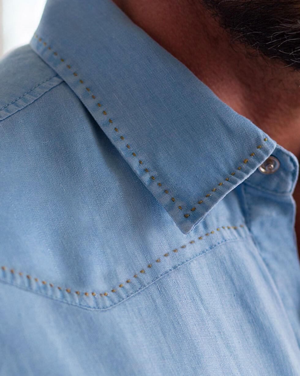 Ryan Michael Sawtooth Linen Shirt , Cloud, hi-res