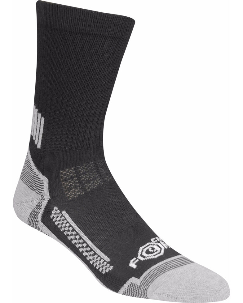 Carhartt Boys' 3-Pack Crew Socks, Black, hi-res