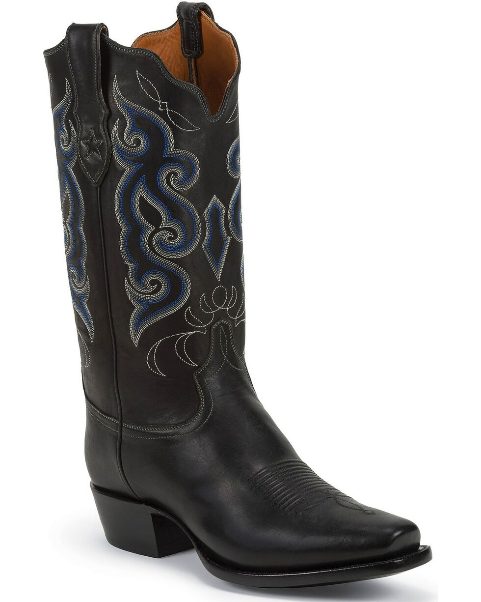 Tony Lama Men's Snip Toe Western Boots, Black, hi-res
