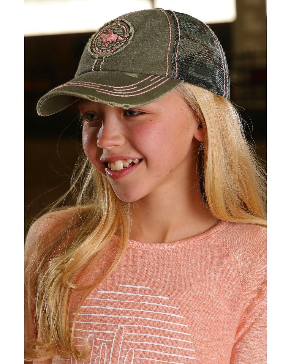 Cruel Girl Camo Patch Trucker Cap, Green, hi-res