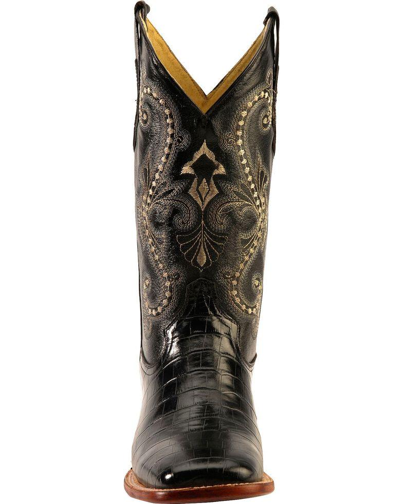 976508f8bb4 Ferrini Belly Caiman Alligator Print Cowboy Boots - Square Toe