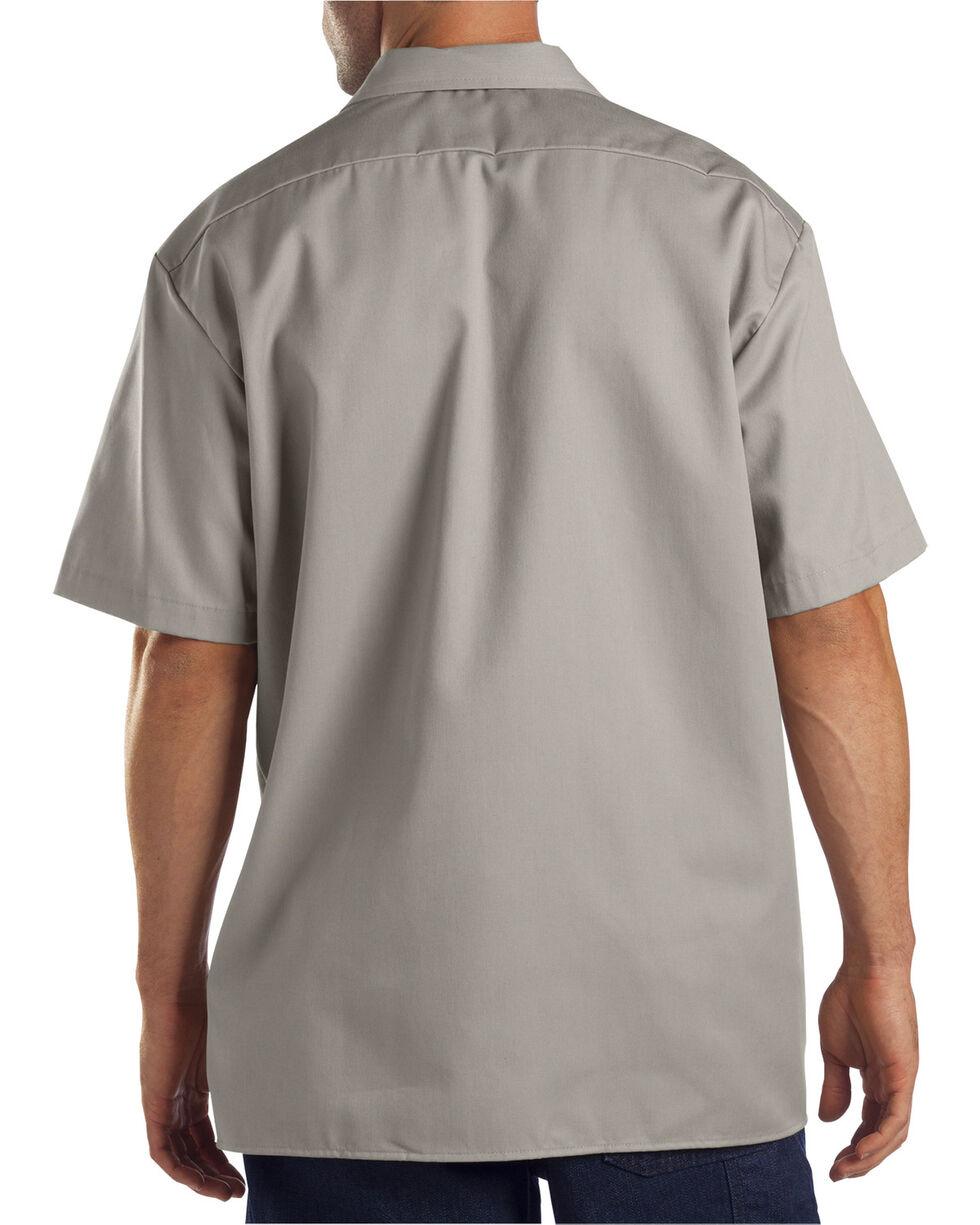 Dickies Short Sleeve Work Shirt-Folded, Silver, hi-res