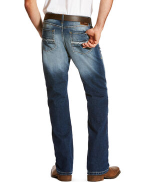 Ariat Men's Blue M5 Slim Fit Jeans - Straight Leg , Blue, hi-res