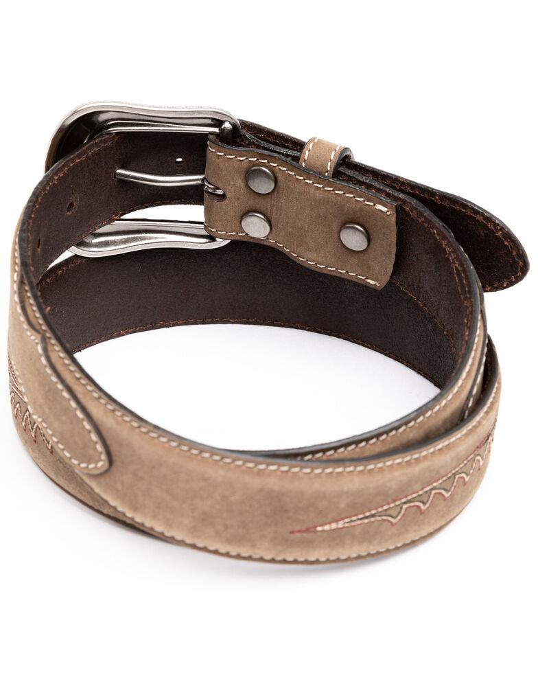 Cody James Boys' Longhorn Plaque Buckle Belt, Brown, hi-res