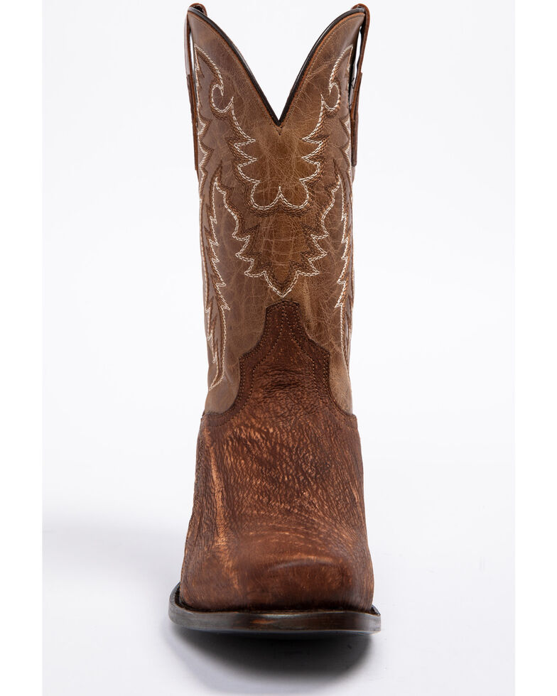 Dan Post Men's Cognac Shark Cowboy Boots - Square Toe, Cognac, hi-res