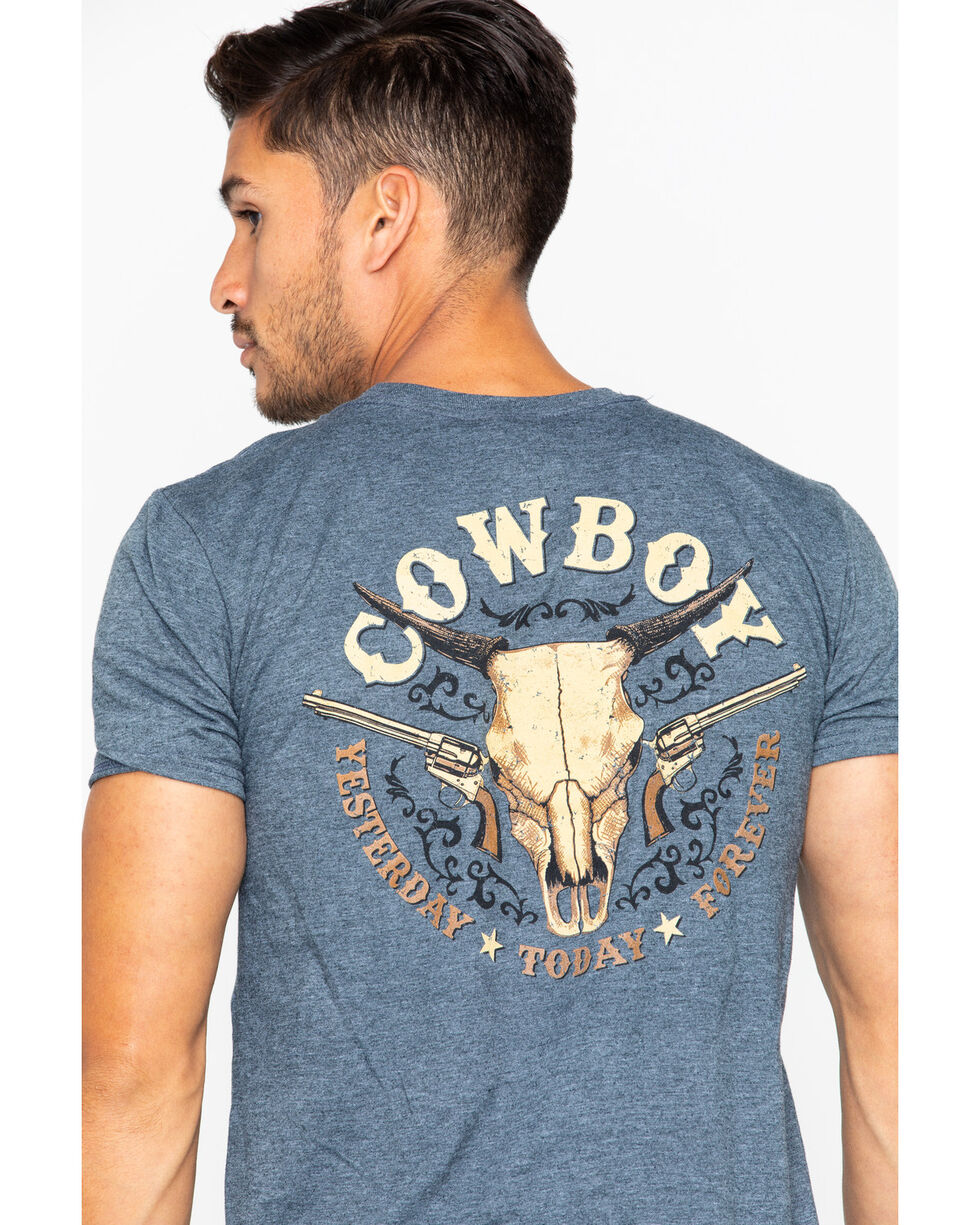 Cowboy Hardware Men's Yesterday Today Forever T-Shirt , Charcoal, hi-res