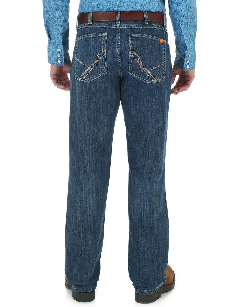 Wrangler's 20X Men's Flame Resistant Bootcut Jeans, Indigo, hi-res