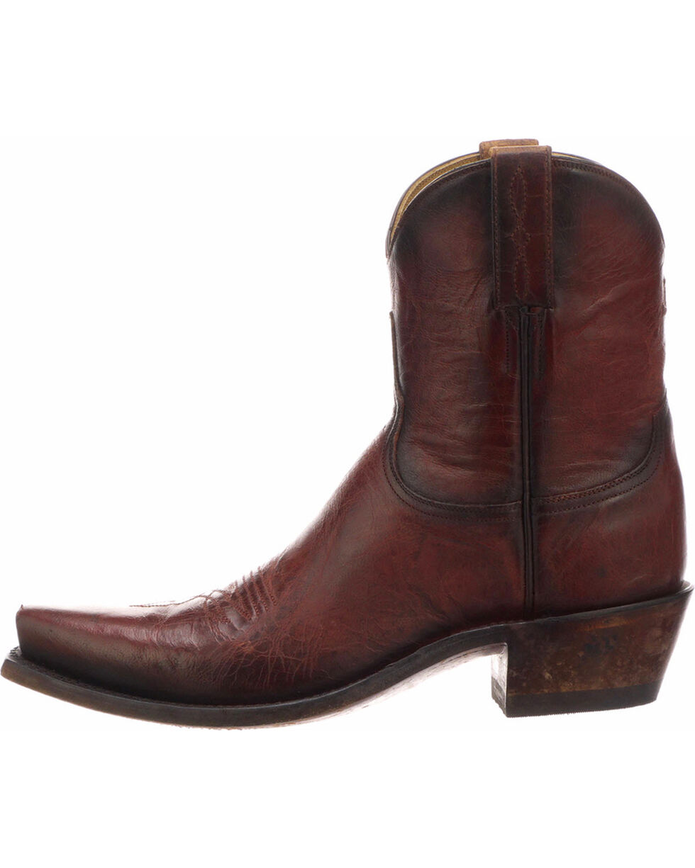 Lucchese Women's Gaby Red Goat Western Boots - Snip Toe, Red, hi-res