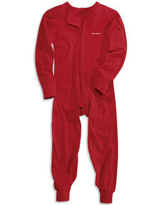 Carhartt Men's Mid-weight Cotton Union Suit, Red, hi-res
