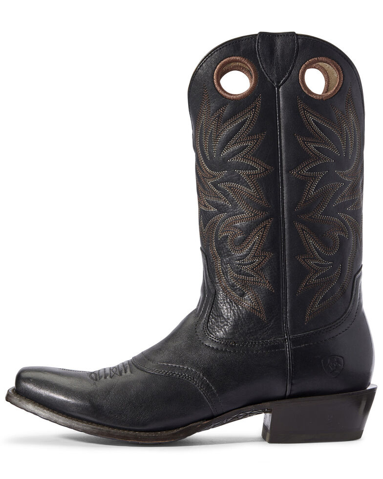 Ariat Men's Circuit Striker Western Boots - Square Toe, Black, hi-res
