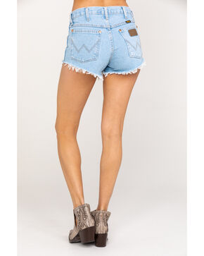 Wrangler Modern Women's Light Wash Heritage Shorts, Blue, hi-res