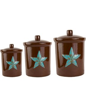 HiEnd Accents Star 3-Piece Canister Set, Brown, hi-res