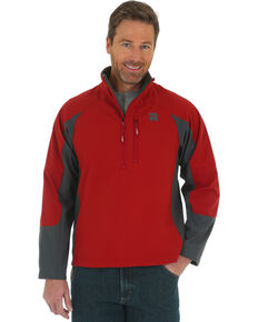 Wrangler Riggs Men's Technician Softshell Work Pullover, Red, hi-res
