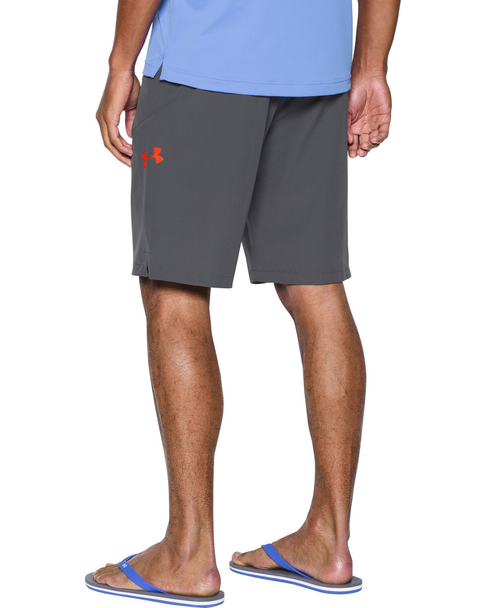 Under Armour Men's Light Grey Solid Board Shorts, Dark Grey, hi-res