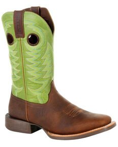 Durango Men's Rebel Pro Lime Western Boots - Square Toe, Green/brown, hi-res