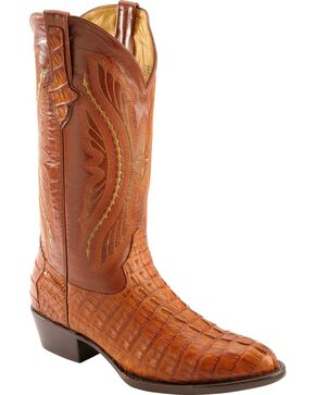 Ferrini Men's Caiman Crocodile Tail Exotic Western Boots, Cognac, hi-res
